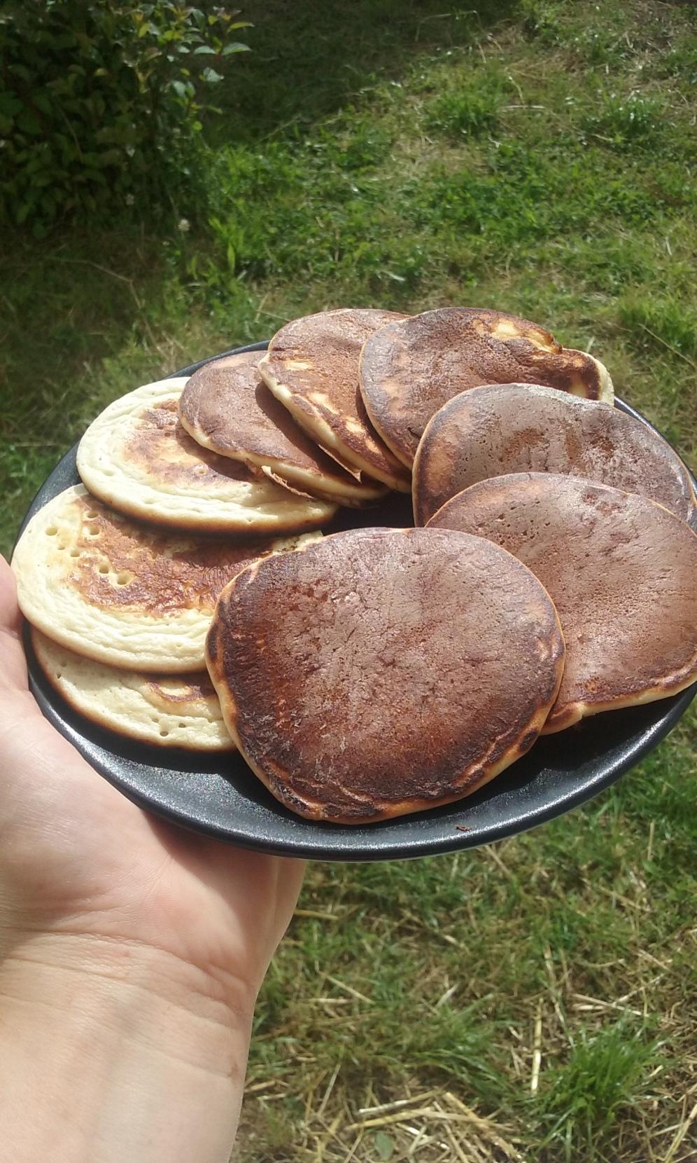 Pancakes à la myrtilles-Chroniques O'Contestiques