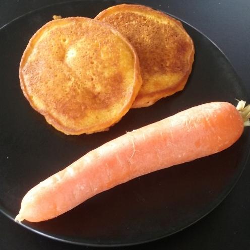 Pancakes à la carotte prêt à déguster