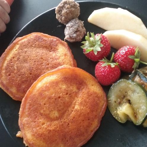 Un repas facile pour bébé : les pancakes à la carotte