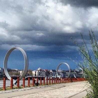 Les anneaux à l'Île de Nantes