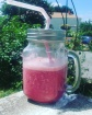 Smoothie gourmand à la cerise