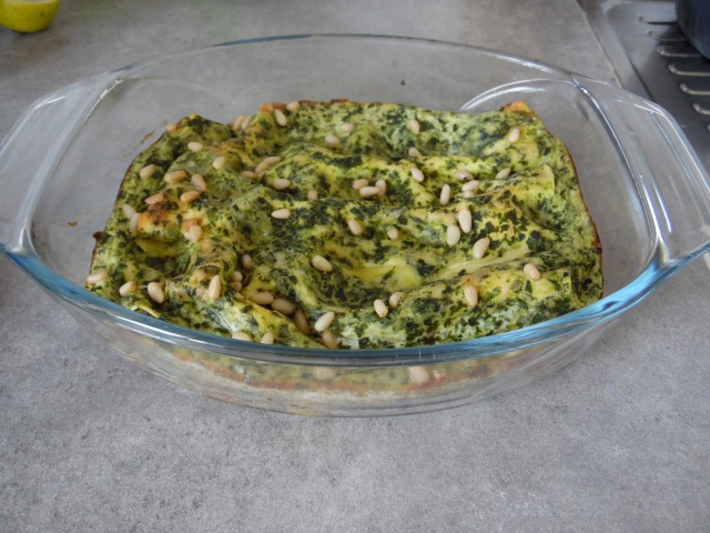Lasagne épinards-ricotta-pignon