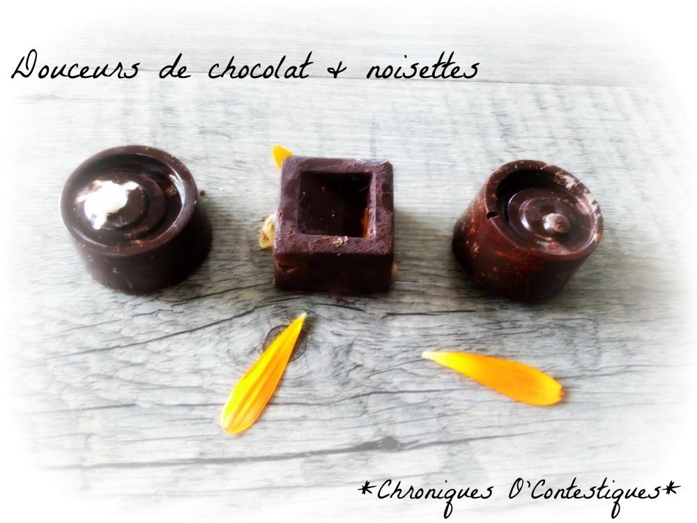 douceurs de chocolat noisettes