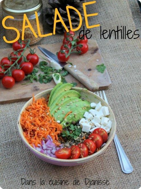 Salade de lentilles vertes vegan