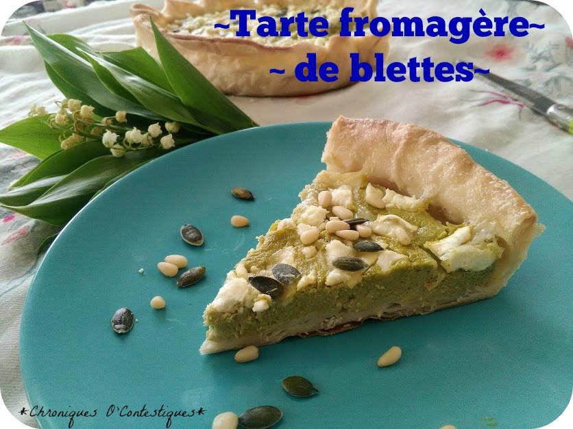 Tarte fromagère de blettes3